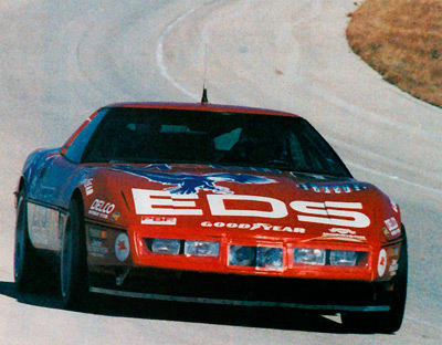 Early on the Morning of the 2nd, the ZR-1 exits Turn 4 at Ft.  Stockton. Image: Morrison Development.